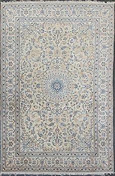 A carpet, Nain, part silk, 9 LAA, ca  577 x 380 cm.