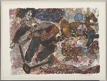 Theo Tobiasse,  lithograph in colours signed and numbered 16/168.