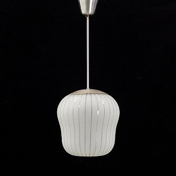 A ceiling lamp with frosted glass from Orrefors, 1940's.