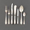A 'vasa' silver cutlery service, 63 pieces, mostly gab, first half of the 20th century.