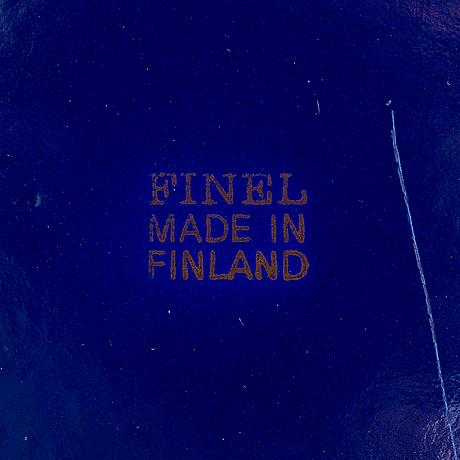"""Leif eriksson och tuula pöyhö, lautasia, 12 kpl, """"emma"""", finel finland 1970-luku."""