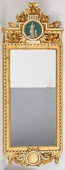 A Gustavian mirror, late 18th Century.