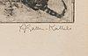 Akseli gallen-kallela, heliogravure, signed.