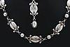 Georg jensen, necklace and bracelet sterling silver, design no 15 and 11.