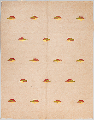 Hårgarnsmatta, 1930-tal. ca 210x164 cm.