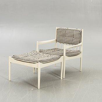 "Gillis Lundberg, An IKEA armchair and stool 1960s, ""Profil""."