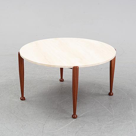 Josef frank, a stone top model 965 coffee table, svenskt tenn.
