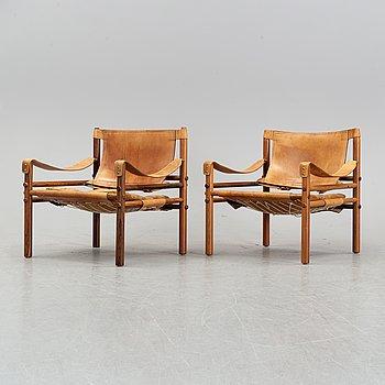 """Arne Norell, fåtöljer, ett par, """"Sirocco"""", 1960-tal."""