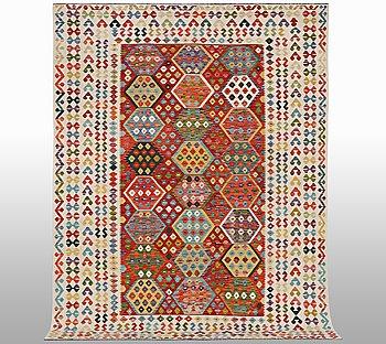 A carpet, kilim, ca 348 x 256 cm.