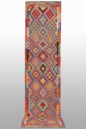 A runner, kilim 397 x 81 cm.