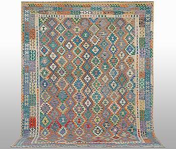 A carpet, kilim 392 x 295 cm.