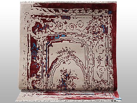 A rug, indian design, ca 164 x 93 cm.