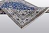 A carpet, nain, part silk 9 laa, ca 310 x 203 cm.