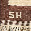 A carpet, flat weave, ca 291 x 202 cm, signed sh.