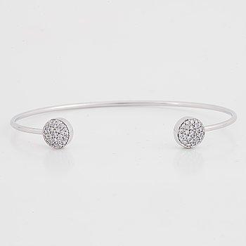 "A George Jensen ""Rigitze"" bracelet, set with brilliant cut diamonds, total carat weight circa 0.28ct."