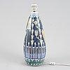 Marian zawadzki, bords/golvlampa, tilgmans keramik.