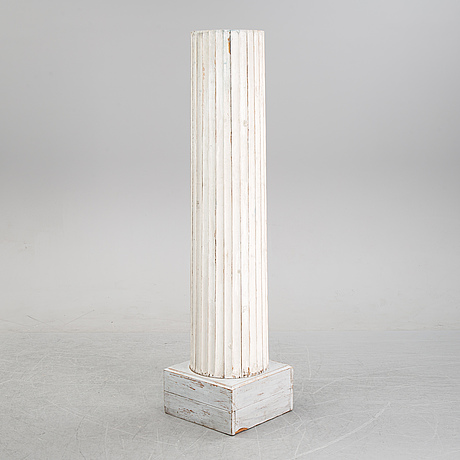 A painted wooden column, 20th century.