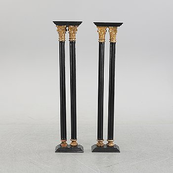 A pair of columns, first half of the 20th century.