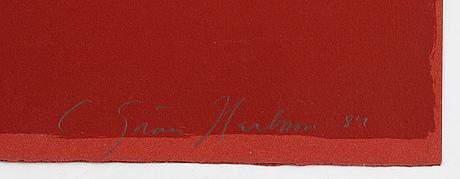 C göran karlsson, silkscreen ion colours, 1984, signed 166/200.