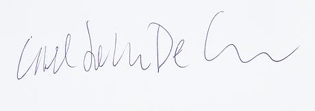 Carl johan de geer, fotografi, signerat a tergo.