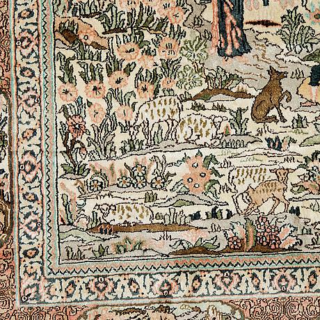A carpet, oriental silk, ca 177 x 123 cm.