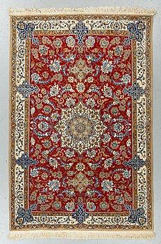A rug, Old Esfahan/Nain Tuteshk, ca  187 x 175 cm (one has 2,5 cm flat weave).