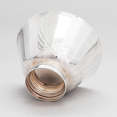 A swedish silver bowl, maker's mark of eric löfman, mgab, uppsala 1974.
