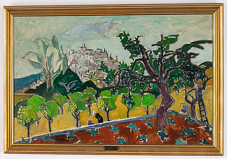 Erik jerken, oil on canvas, signed. and dated 1947.