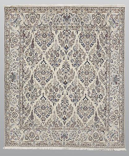 Matta, figural nain part silk s.k 9 laa, ca 230 x 197 cm.