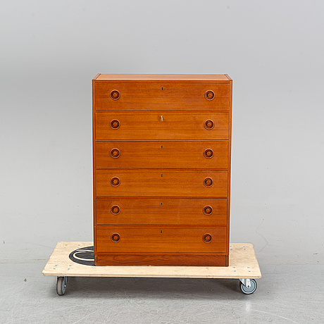 A teak chest of drawers, 't 600' by erik fransson, 1960's.
