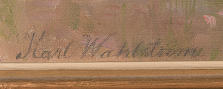 Karl wahlström, oil on canvas, signed.