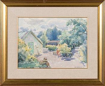 Johannes Gebhard, akvarell, signerad och daterad -50.