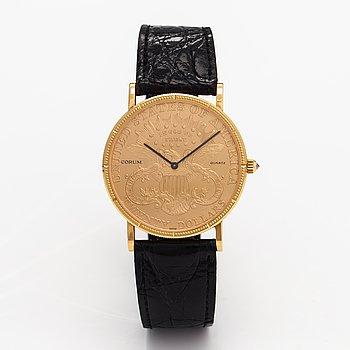 Corum, coin watch 20 dollar, rannekello, 35 mm.