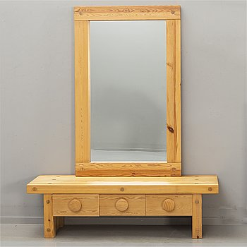 "Hallmöbel, ""Ruben"", Nybrofabriken AB, mirror and chest of drawers, 1970s."