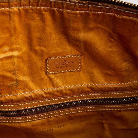 Louis vuitton, a monogram canvas weekend bag.