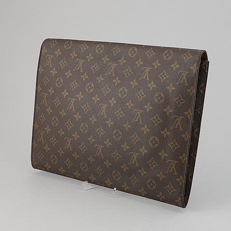 Louis vuitton, a monogram canvas 'documents' briefcase.