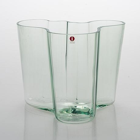 """Alvar aalto, a 'savoy' glass vase 3030, marked """"alvar aalto 100 iittala 1998""""."""