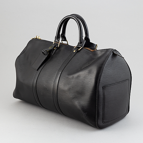 Louis vuitton, a black epi 'keepall 45' weekend bag, 1995.