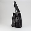 Louis vuitton, a black epi sholder bag, 1991.