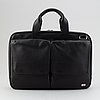 Dunhill, a black leather briefcase, 2020.