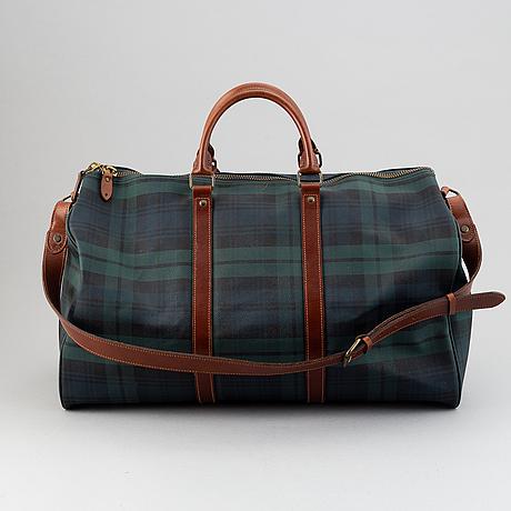 Ralph lauren, a canvas weekend bag.