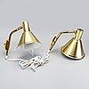 Wall lamps, a pair, öja lighting, 1970s.