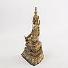 A gilded bronze buddha thailand around 1900.