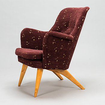 Carl Gustaf Hiort af Ornäs, 1950s 'Pedro' armchair for Puunveisto Oy - Wood work Ltd.