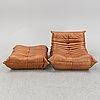 A contemporary five-peice sofa, 'togo' from ligne roset.