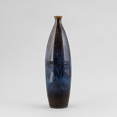 A unique stoneware vase by carl-harry stålhane, rörstrand.