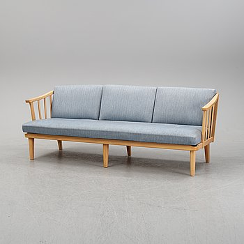 A 'Visingsö' birch sofa by Carl Malmsten for OH Sjögren, second half of the 20th Century.