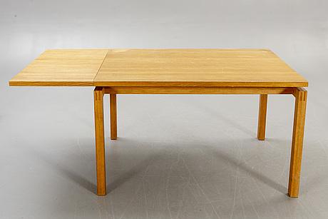 Nissen & gehl, dining table 'bernstorffsminde' + chairs 'thorn' 6 pcs, johansson möbelsnickeri markaryd.