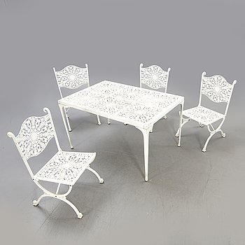 Garden group, table, chairs, 4 pcs, last part of the 20th century.