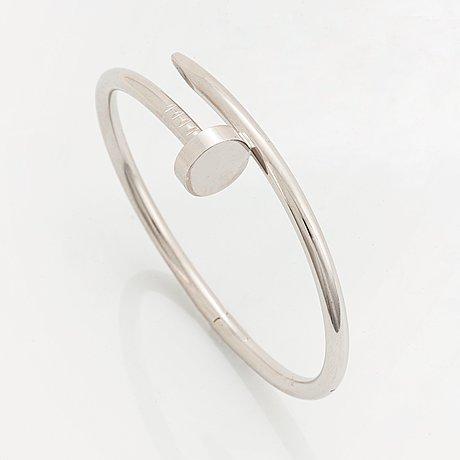 "A cartier ""juste en clou"" bracelet in 18k white gold."